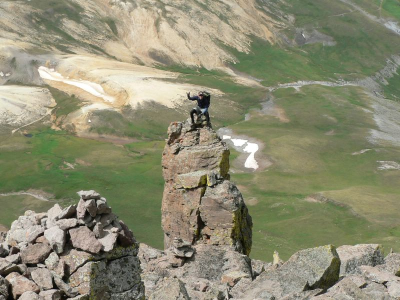 James on a 14er Uncompahgre Peak in Colorado